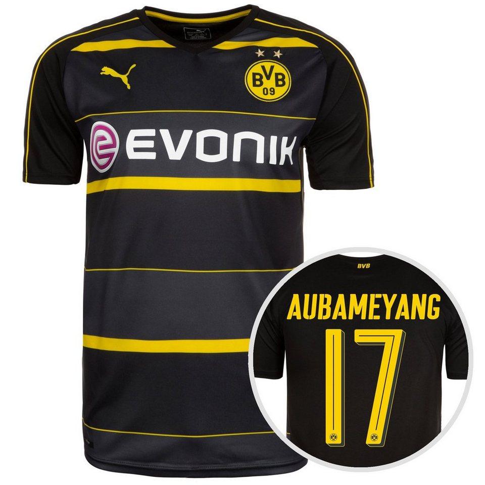 PUMA Borussia Dortmund Trikot Away Aubameyang 2016/2017 Herren in schwarz / anthrazit