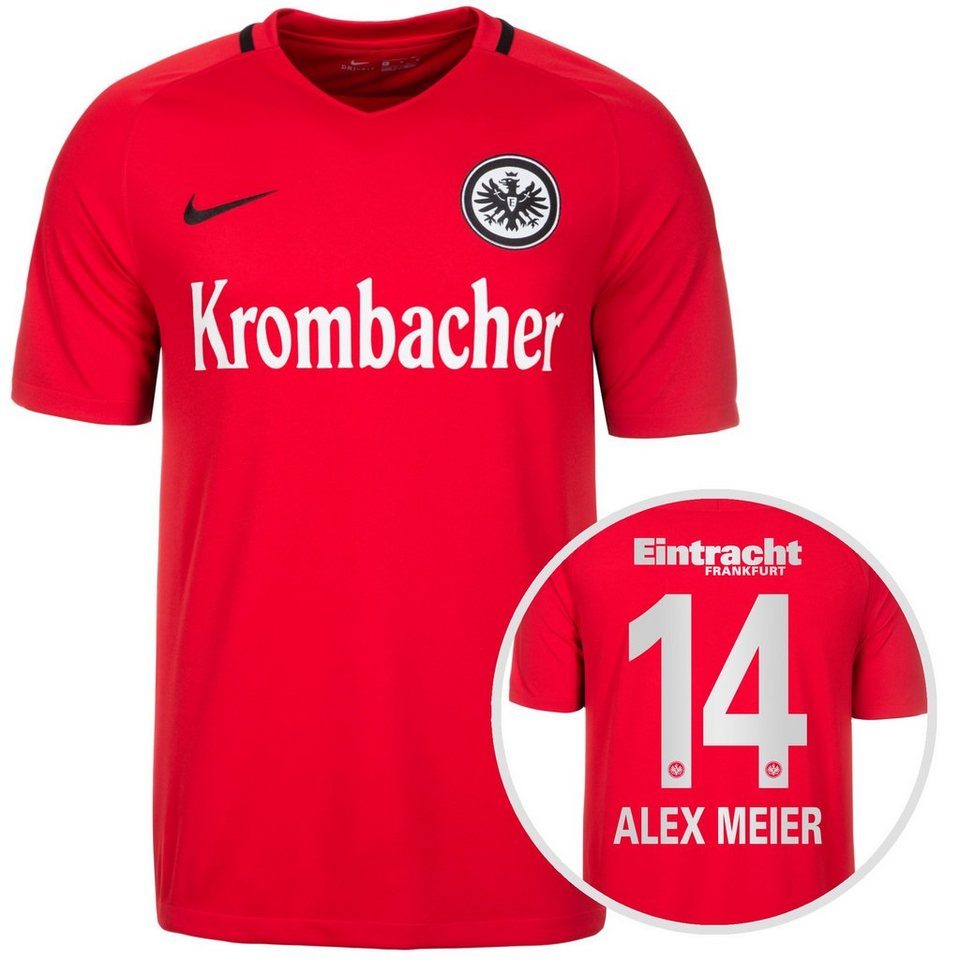 NIKE Eintracht Frankfurt Trikot Away Stadium Meier 2016/2017 Herren in rot / schwarz