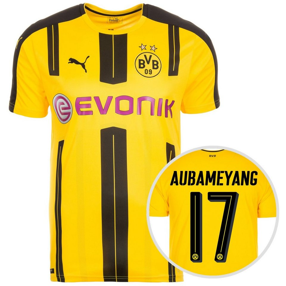 PUMA Borussia Dortmund Trikot Home Aubameyang 2016/2017 Herren in gelb / schwarz