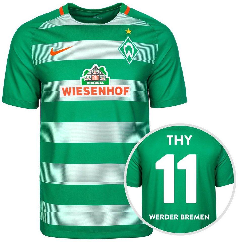 NIKE SV Werder Bremen Trikot Home Stadium Thy 2016/2017 Herren in grün / orange