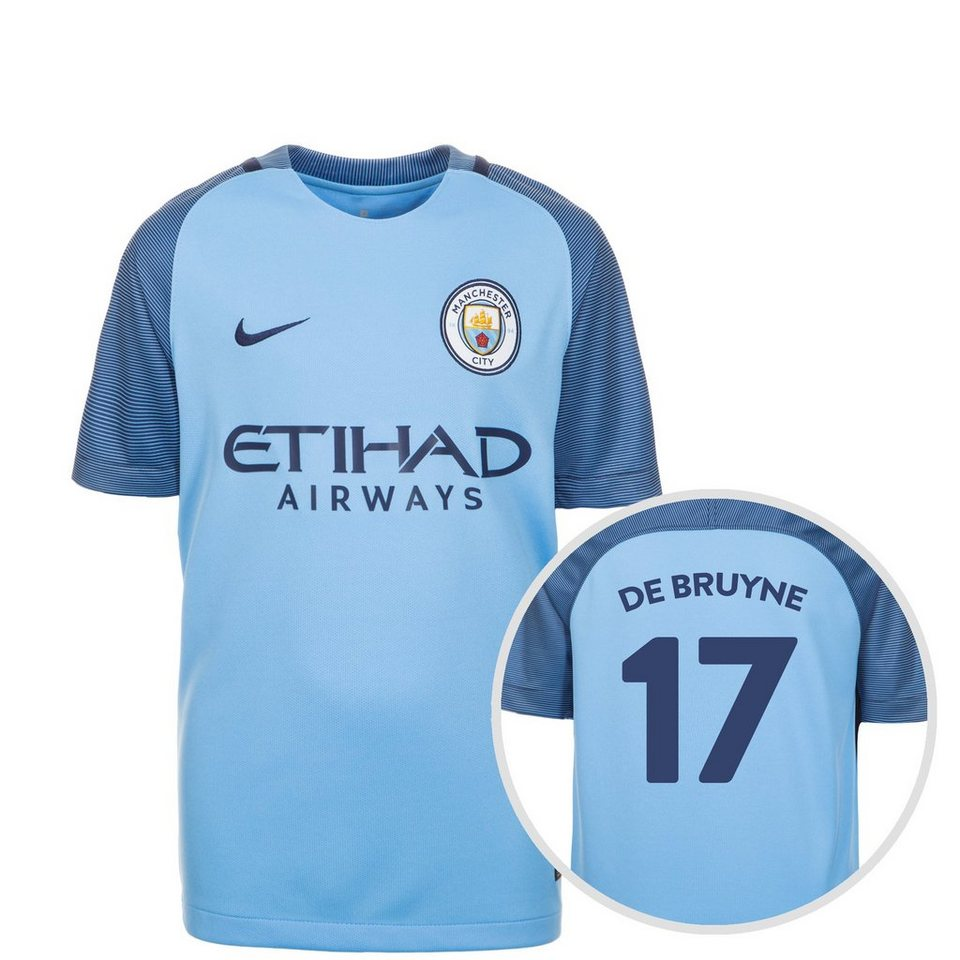 nike manchester city trikot home stadium de bruyne 2016 2017 kinder online kaufen otto. Black Bedroom Furniture Sets. Home Design Ideas