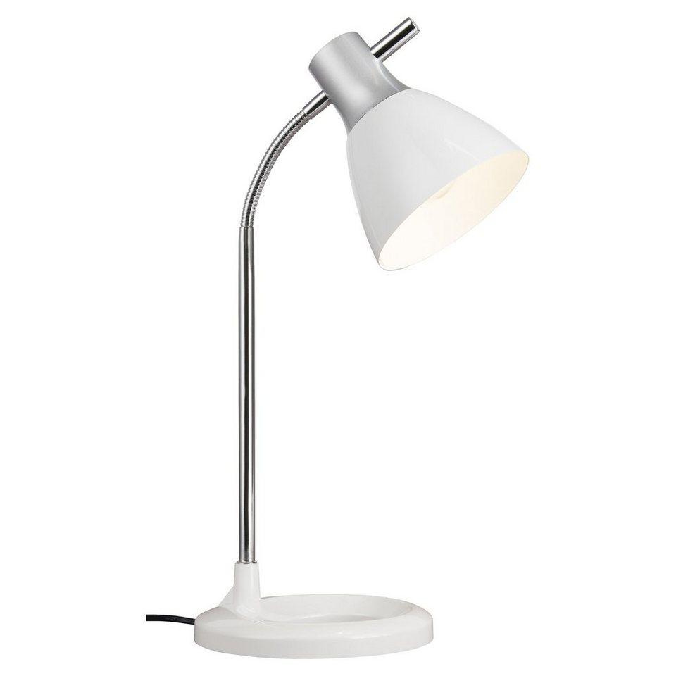 Brilliant Leuchten Jan Tischleuchte silber/weiß in silber/weiß