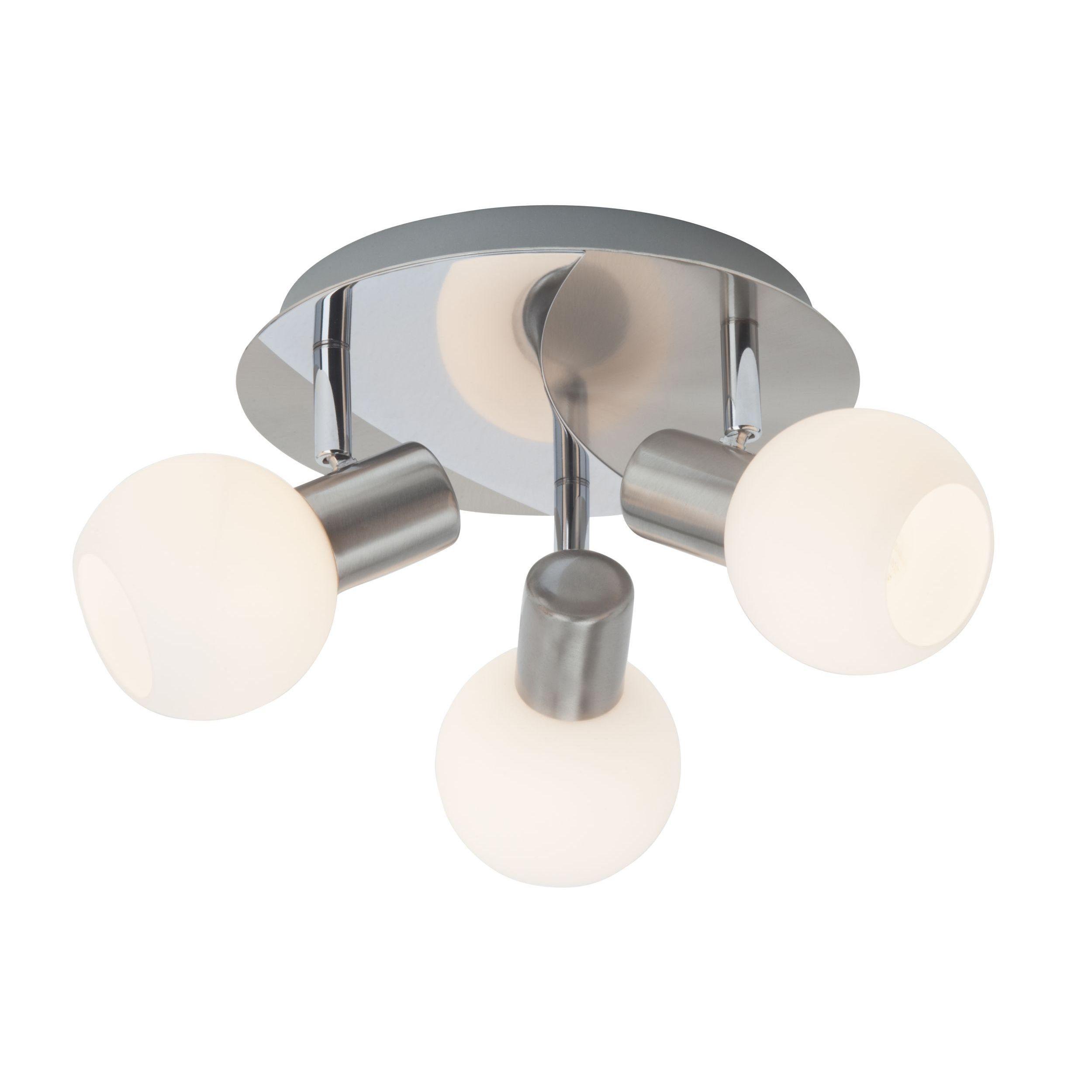 Brilliant Leuchten Tiara Spotrondell, 3-flammig eisen/weiß