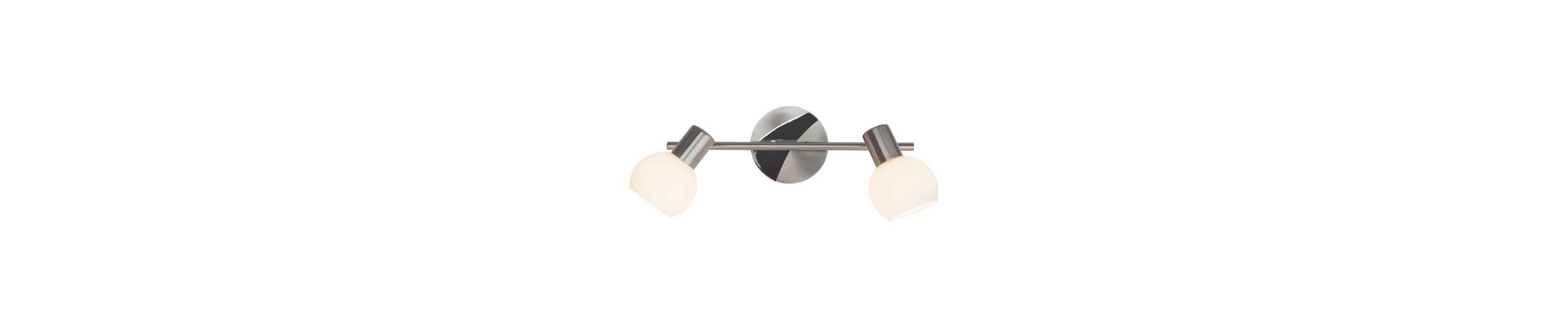 Brilliant Leuchten Tiara Spotrohr, 2-flammig eisen/weiß