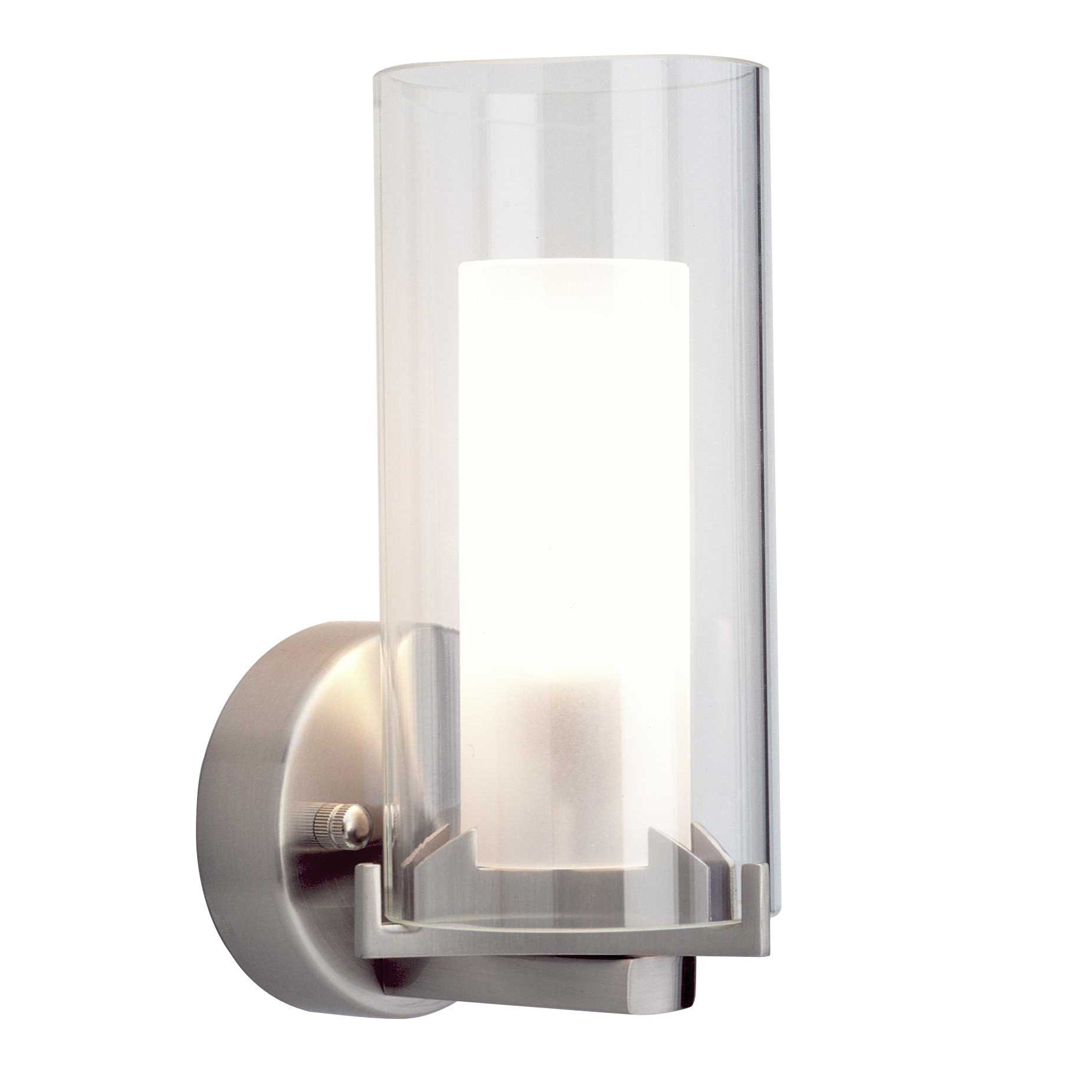 Brilliant Leuchten Adrano Wandleuchte eisen/mattglas