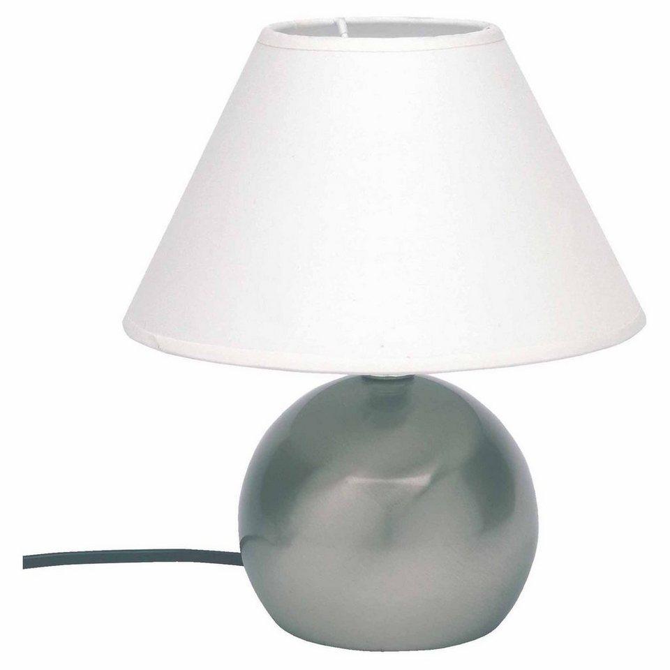 Brilliant Leuchten Tarifa Tischleuchte mit Touchdimmer eisen/weiß in eisen/weiß