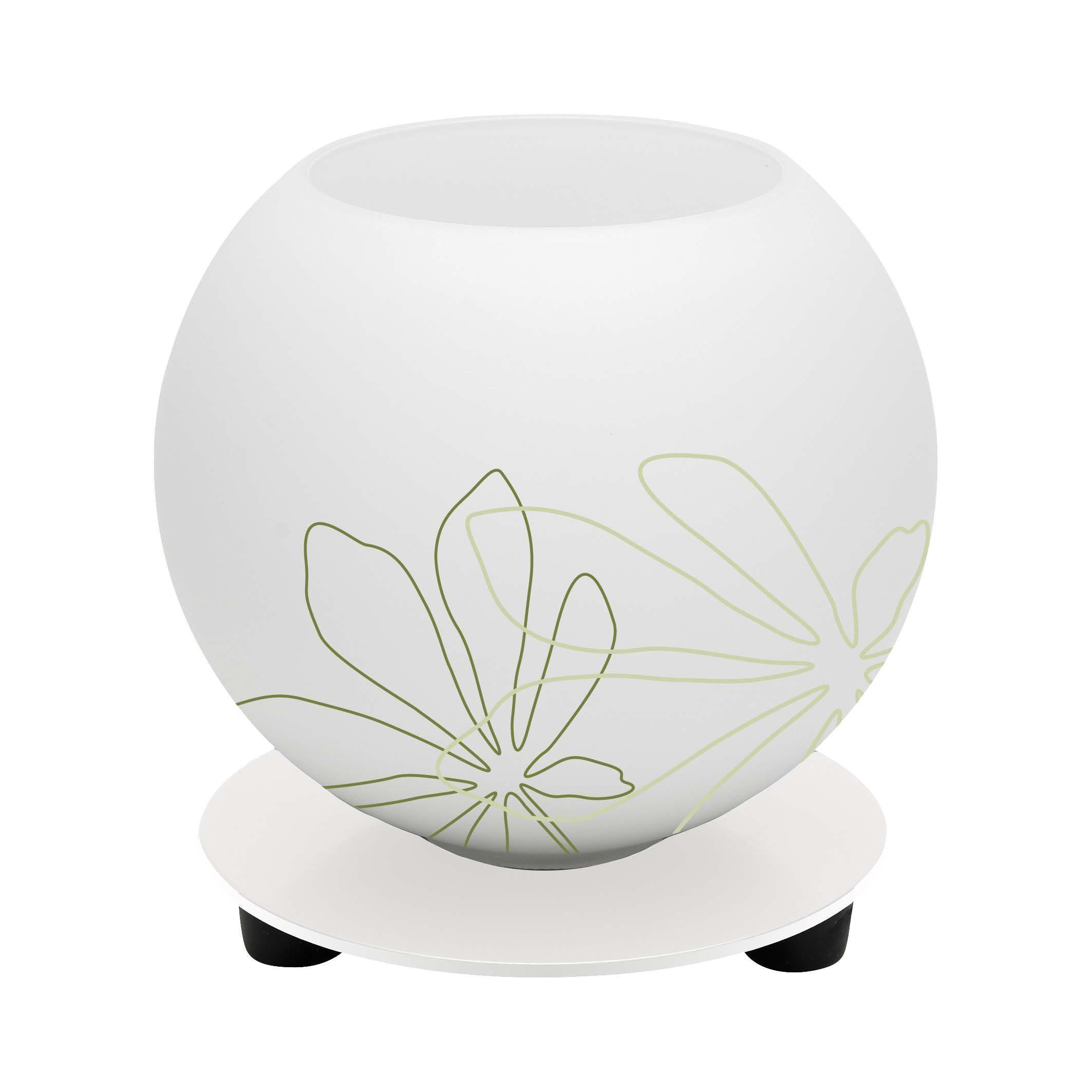 Brilliant Leuchten Pop Tischleuchte weiß/grün florales Muster