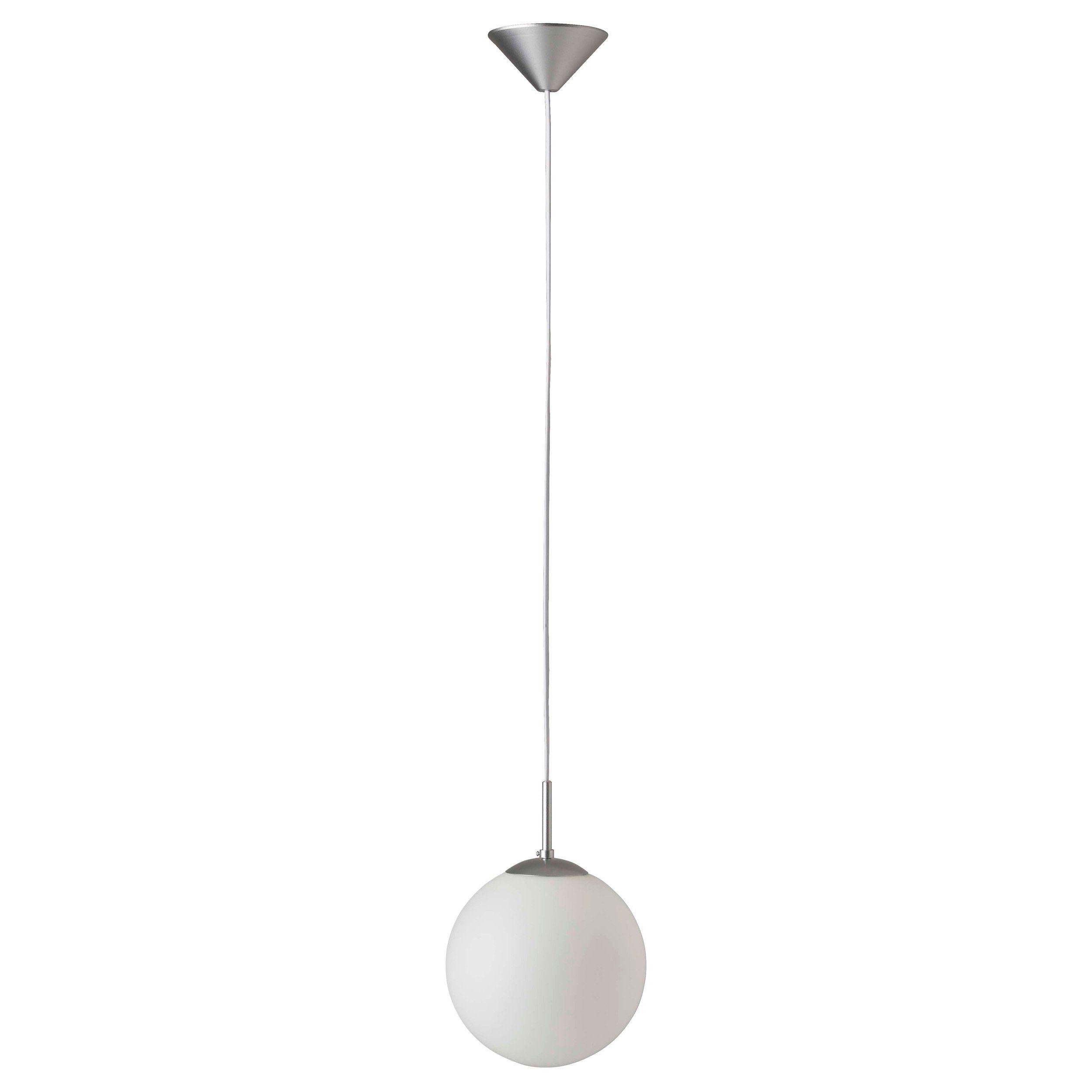 Brilliant Leuchten Fantasia Pendelleuchte, 1-flammig 20cm silber/weiß