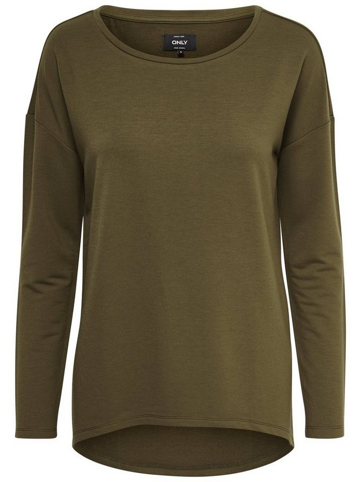 Only Detail- Sweatshirt in Military Olive