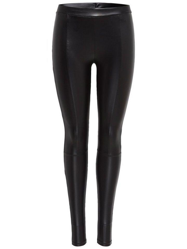 Only Lederlook- Leggings in Black