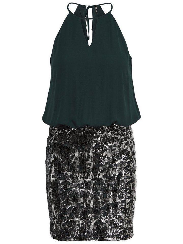 Only Detail- Kleid ohne Ärmel in Scarab