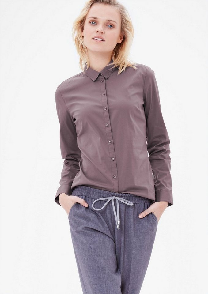 s.Oliver RED LABEL Taillierte Stretchbluse in grey purple