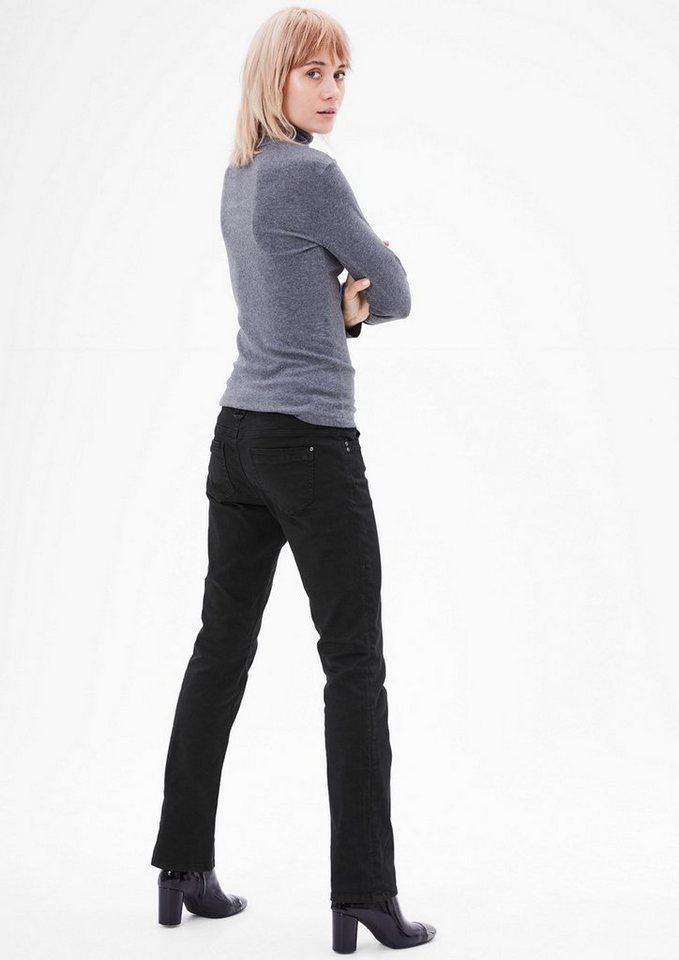 s.Oliver RED LABEL Smart Straight: Colored Denim in black denim stretch