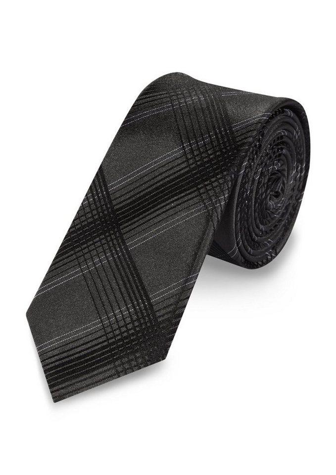 s.Oliver BLACK LABEL Krawatte im Glencheck-Design in black