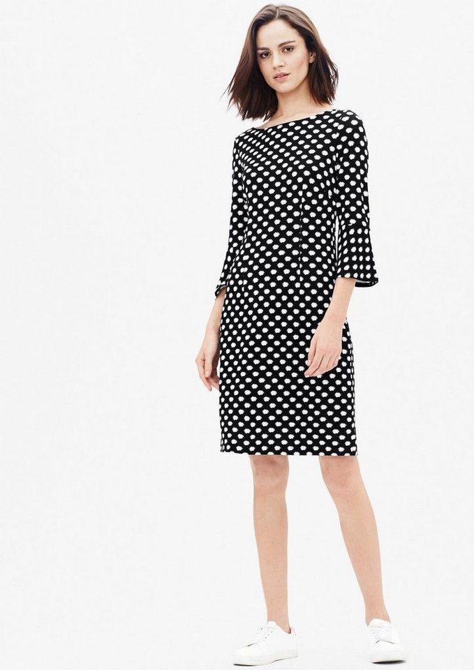 s.Oliver BLACK LABEL Muster-Kleid aus festem Jersey in grey/black uma back