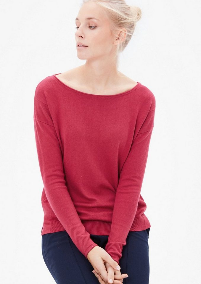 s.Oliver RED LABEL Feinstrickpullover mit Wolle in azalea