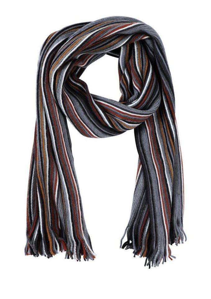 s.Oliver RED LABEL Weicher Schal mit Streifen in black stripes