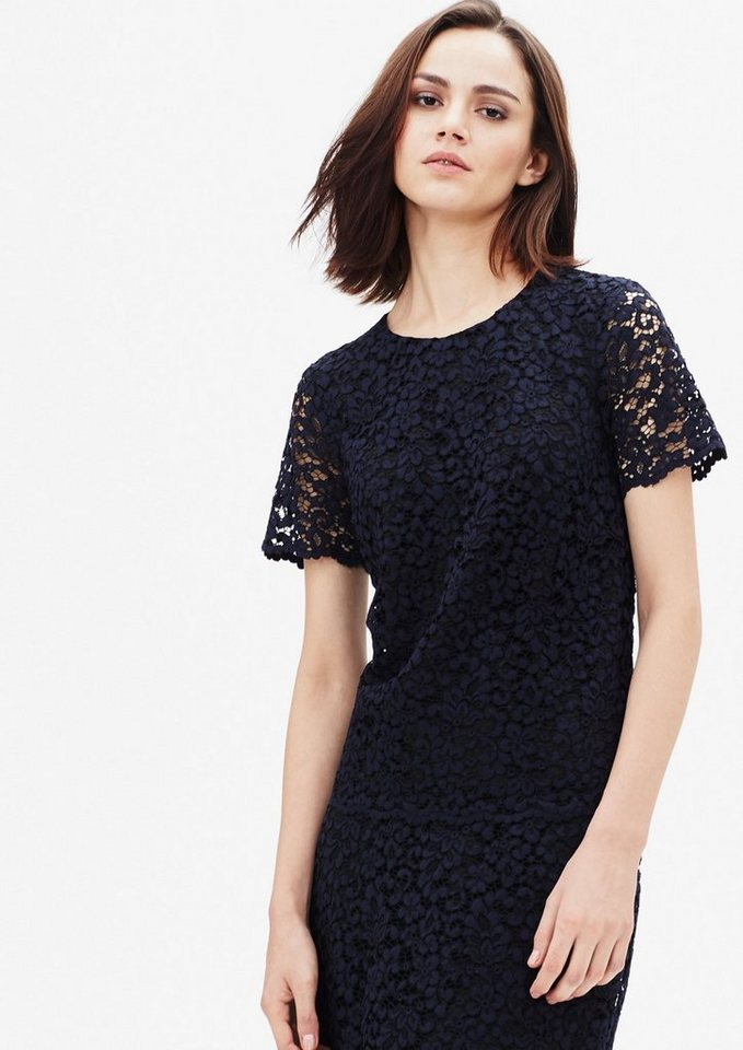 s.Oliver BLACK LABEL Bluse aus Baumwollspitze in star blue