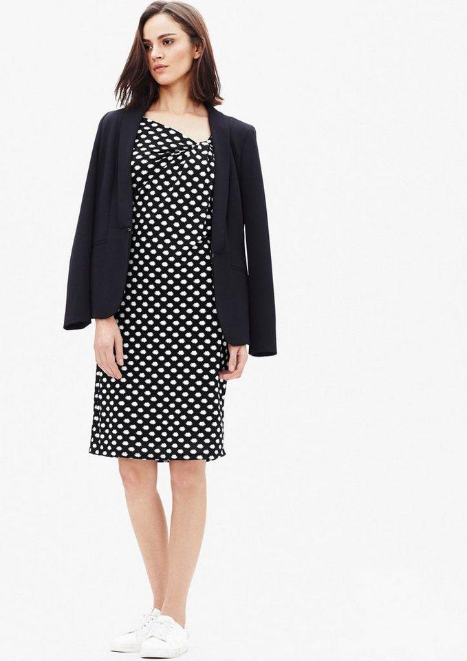 s.Oliver BLACK LABEL Kleid aus leichtem Jersey in grey/black uma back