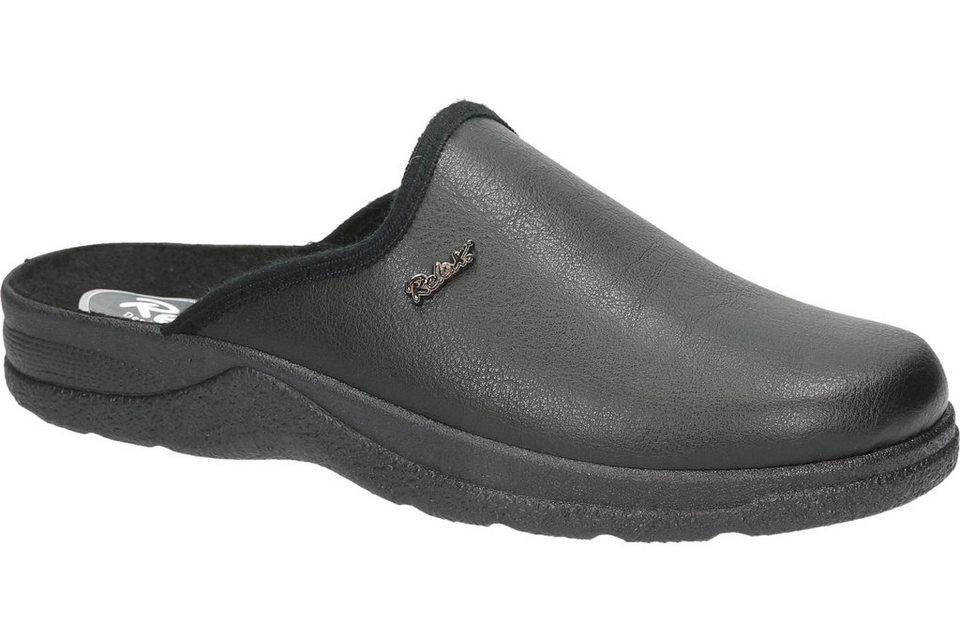 Relax Men Pantoffel in schwarz