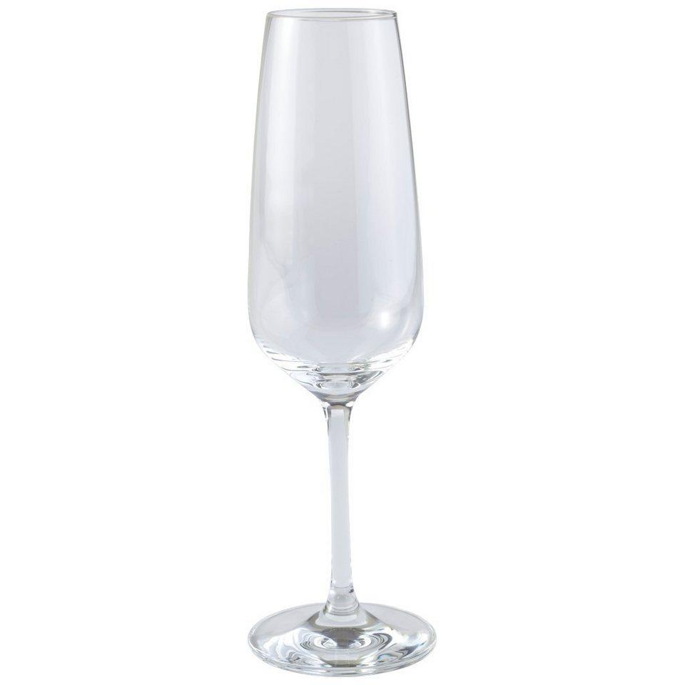 VIVO - VILLEROY & BOCH Champagne Sektkelch Reims 4er Set »Voice Basic Glas« in dekoriert