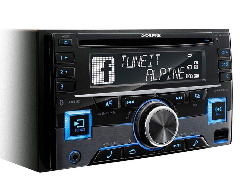ALPINE 2-DIN CD-Tuner »CDE-W296BT« in schwarz