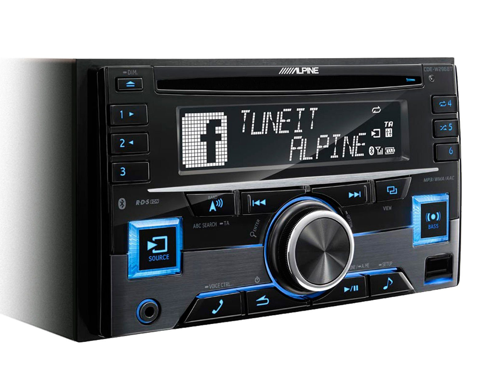 ALPINE 2-DIN CD-Tuner »CDE-W296BT«