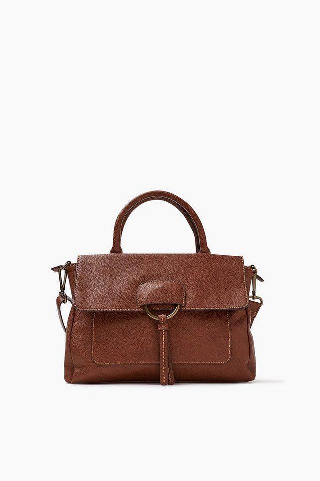 ESPRIT CASUAL Softe City Bag im Leder-Look in BROWN