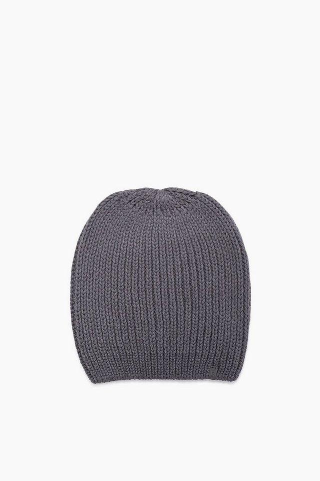 ESPRIT CASUAL Baumwoll-Mix Mütze aus grobem Ripp in GREY