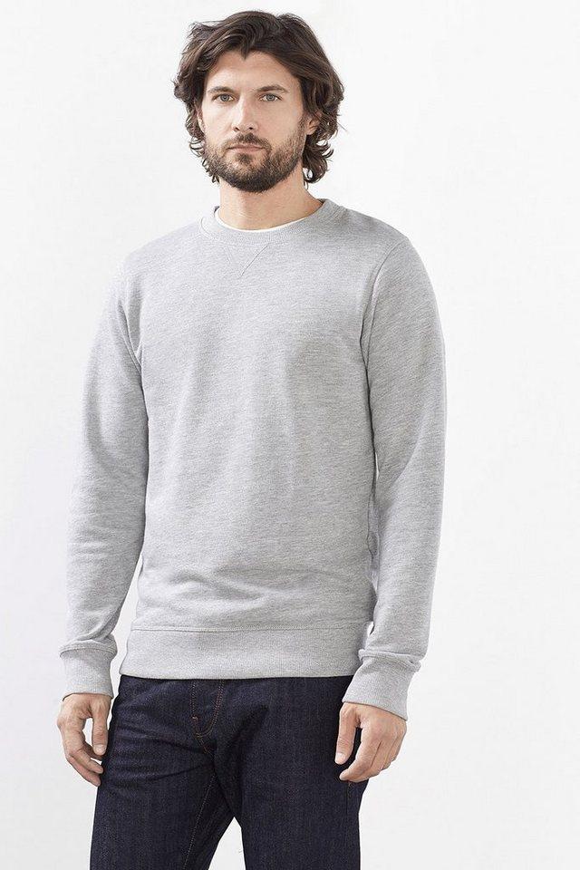 ESPRIT CASUAL Melange Sweatshirt aus Baumwoll-Mix in MEDIUM GREY