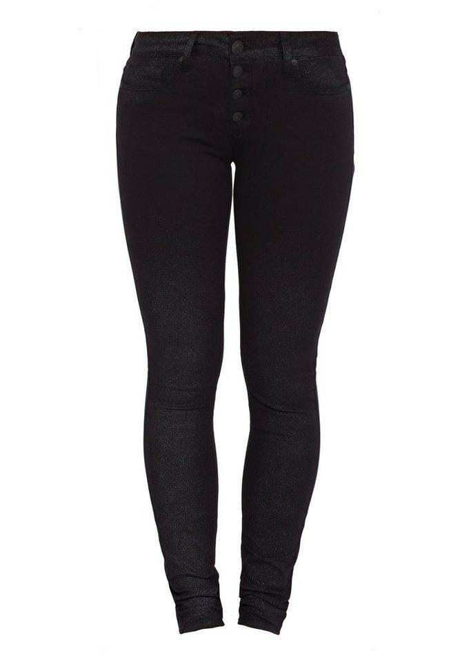 Blue Monkey Skinny-fit-Jeans »BM23B Nena black« in schwarz
