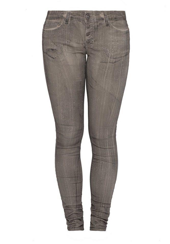 Blue Monkey Skinny-fit-Jeans »BM23 Nena grey« in grau