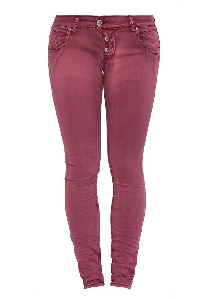 Blue Monkey 5-Pocket-Jeans »Manie 3697« in dunkelrot