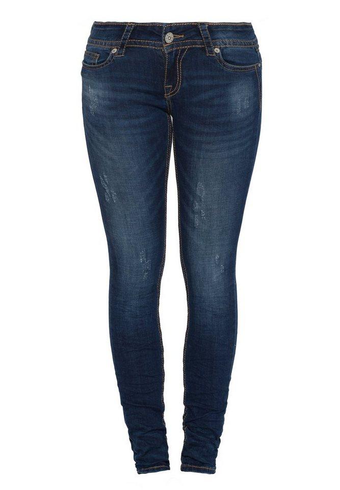Blue Monkey Skinny-fit-Jeans »Romy 3640« in blau