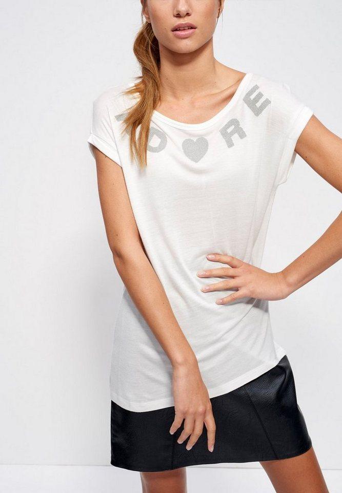 Mexx T-Shirt in wollweiß