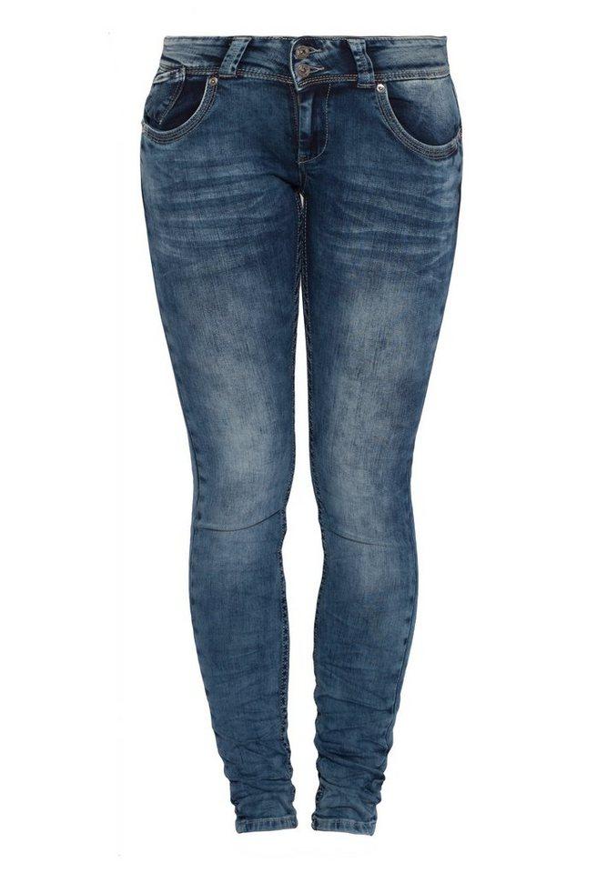 Blue Monkey Skinny-fit-Jeans »Delia 1226« in blau