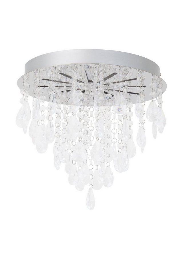 Brilliant Leuchten Alica LED Deckenleuchte chrom/transparent in chrom/transparent