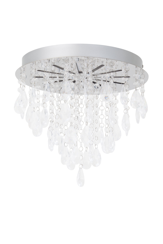 Brilliant Leuchten Alica LED Deckenleuchte chrom/transparent