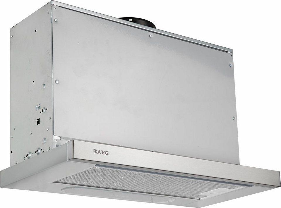 AEG Flachschirmhaube DPB3630M, Energieklasse C in grau