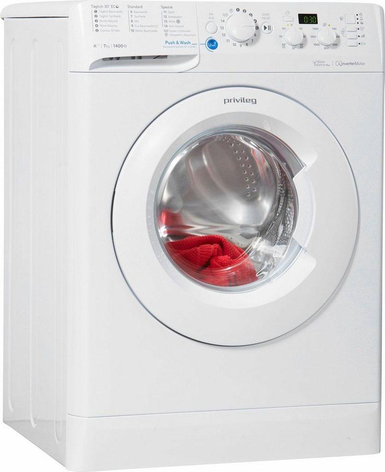 Privileg Waschmaschine PWF X 743, A+++, 7 kg, 1400 U/Min