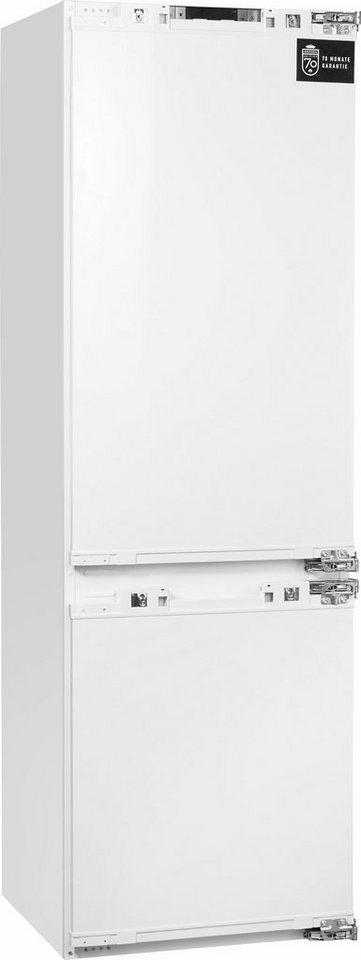 Grundig integrierbare Einbau-Kühl-/Gefrierkombination Edition 70, Energieklasse A++ in Dekorplatte in weiß