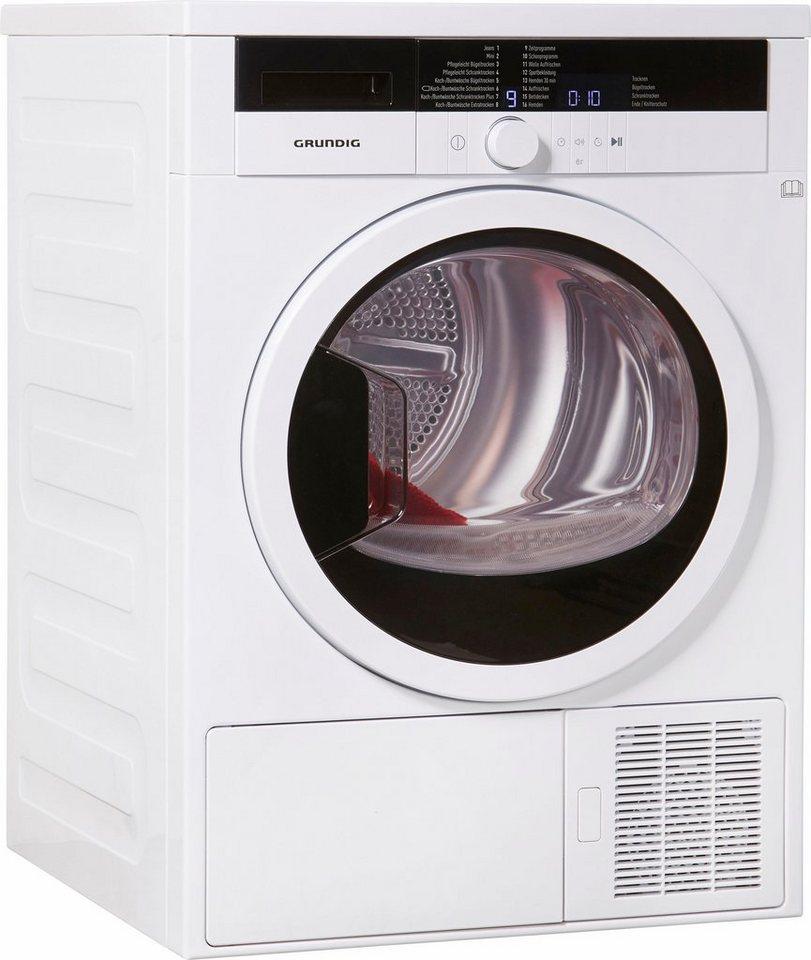 Grundig Trockner GTN 38250 G, A++, 8 kg in weiß
