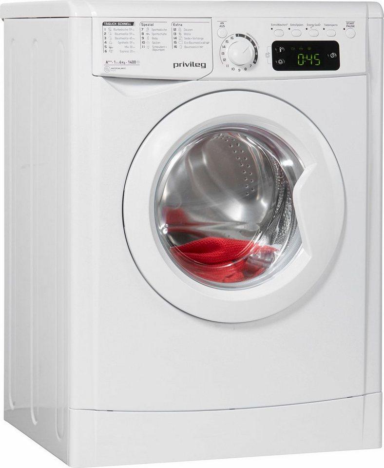 Privileg Waschmaschine PWF M 643, A+++, 6 kg, 1400 U/Min