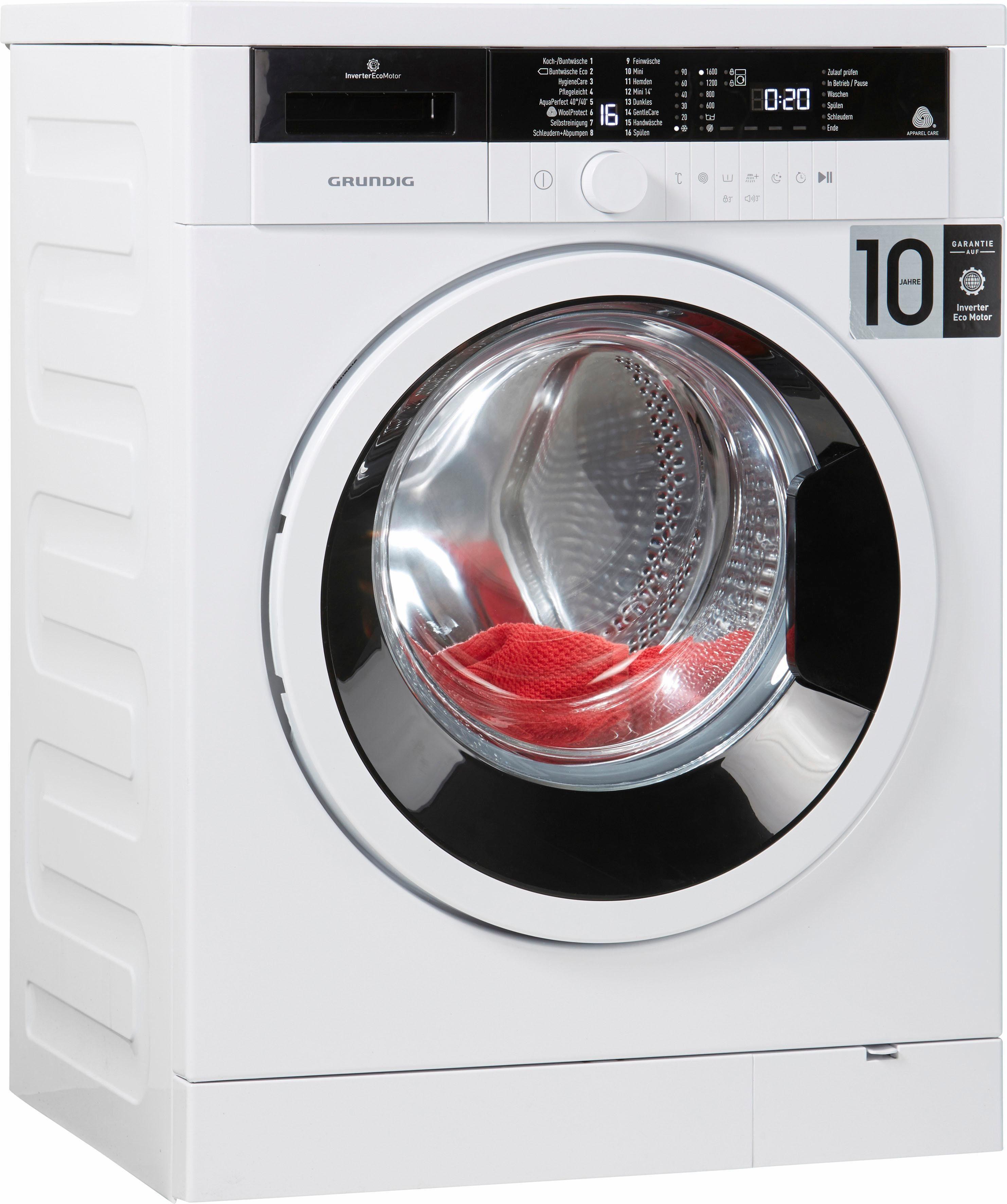 Grundig Waschmaschine GWO 37630 WB, A+++, 7 kg, 1600 U/Min