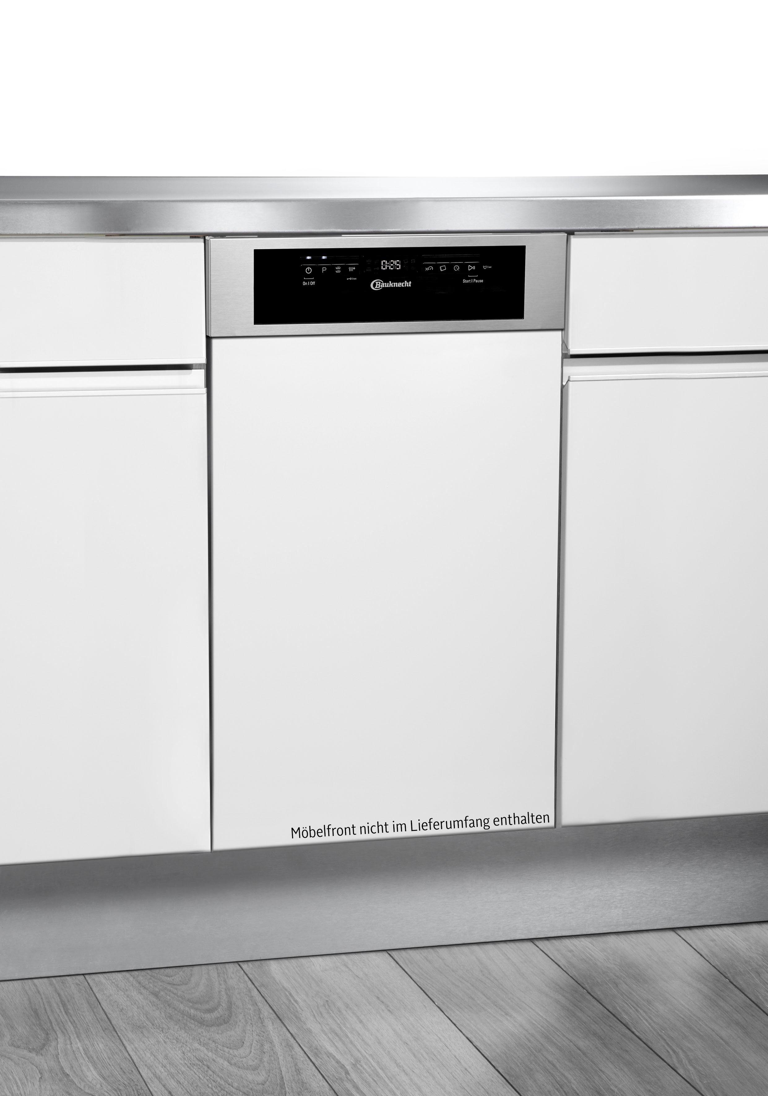 BAUKNECHT teilintegrierbarer Geschirrspüler, GCI 826 IX, 9 l, 10 Maßgedecke, Energieeffizienzklasse A++