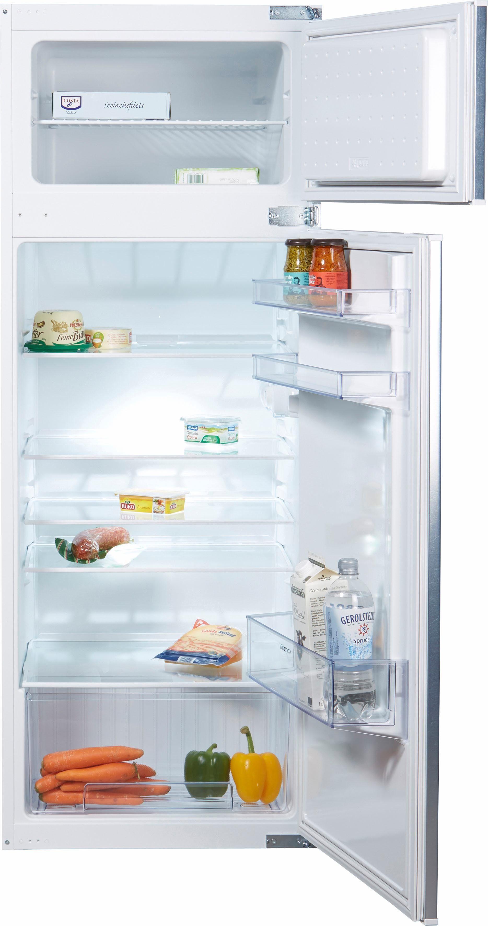 Constructa Einbaukühlschrank CK66544, 144,6 cm hoch, 54,5 cm breit, Energieeffizienzklasse: A+, 144,6 cm hoch