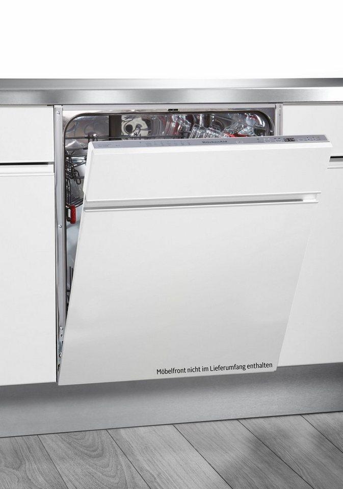KitchenAid Vollintegrierbarer Einbaugeschirrspüler KDSCM82130, A++, 9 Liter, 13 Maßgedecke in schwarz