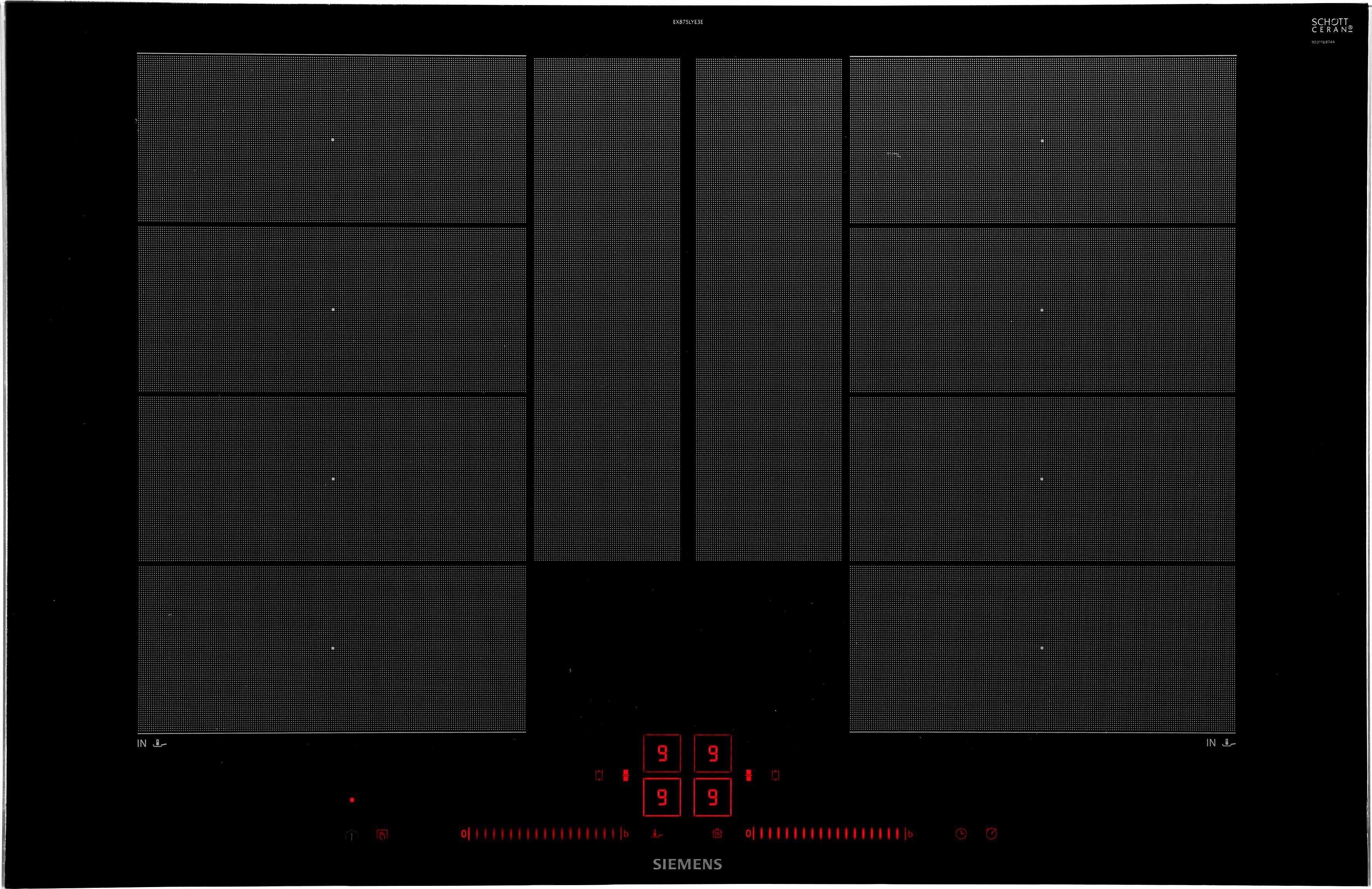 SIEMENS Flex-Induktions-Kochfeld von SCHOTT CERAN® EX875LYE3E, mit powerMove Plus