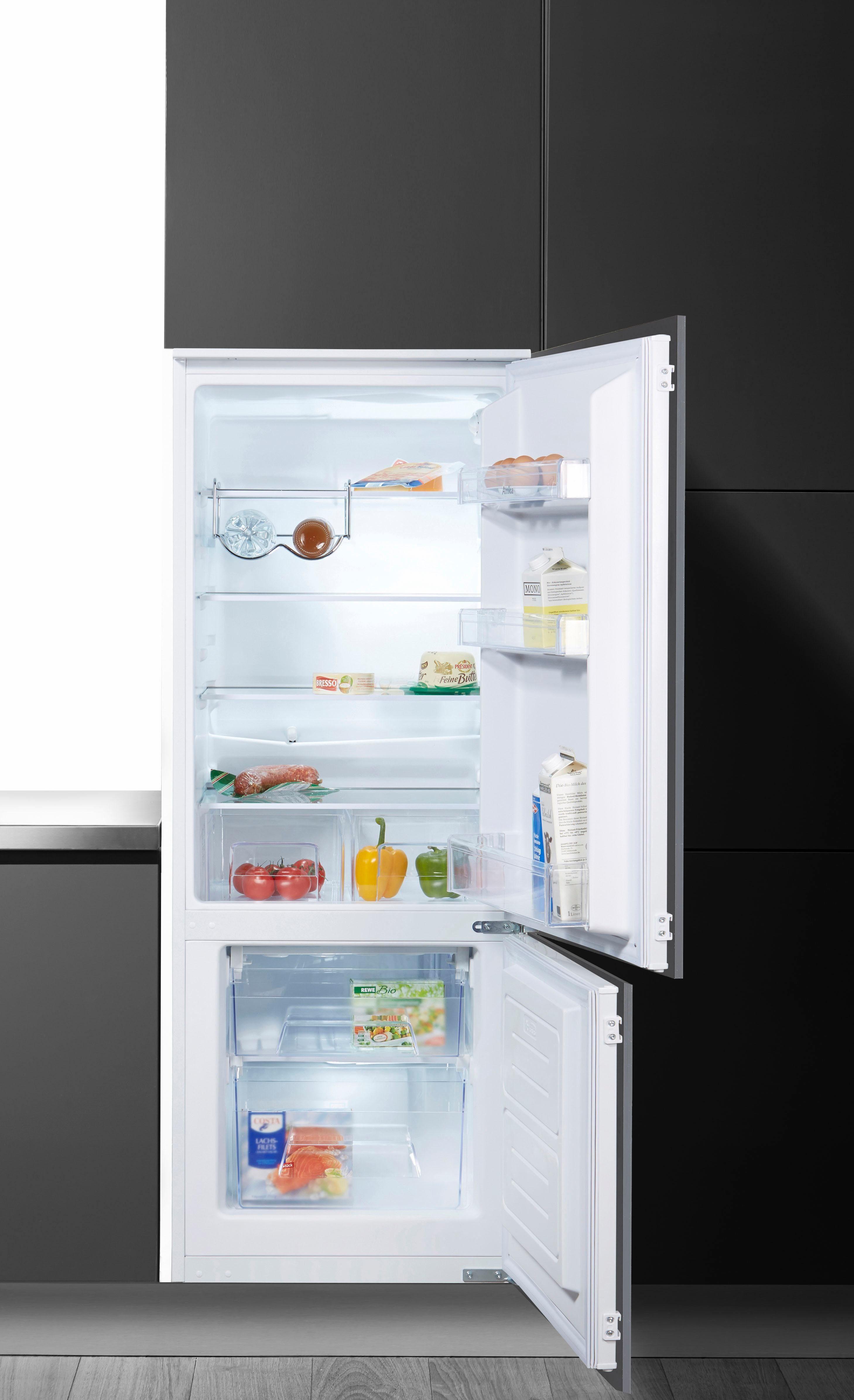 Amica Einbaukühlgefrierkombination EKGC 16156, 144 cm hoch, 54,5 cm breit, Energieeffizienzklasse: A++, 144 cm hoch