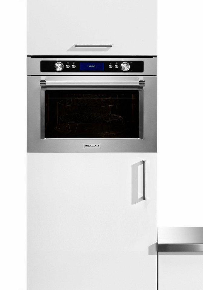KitchenAid® Einbaumikrowelle KMQCX 45600, mit Backofenfunktion, 40 Liter, 900 Watt in KitchenAid Edelstahl